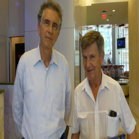 Dr. Marquina and Dr. Lars Hode, Swedish physicist